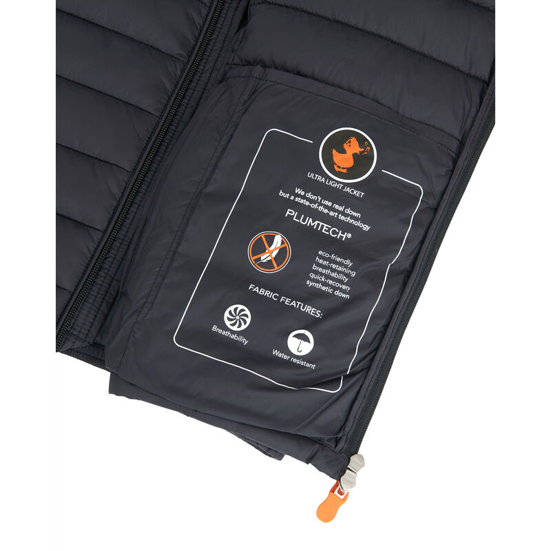 Save The Duck Men's Giga Mid Quilted Winter Coat image number 8