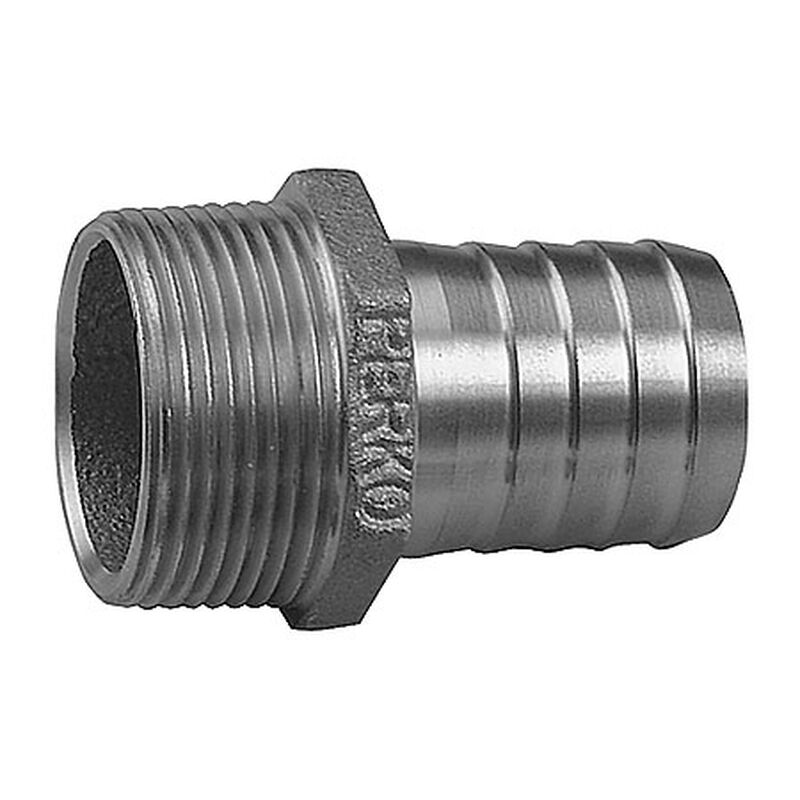 """Perko Straight Pipe To Hose Adapter, 3/4"""" image number 1"""