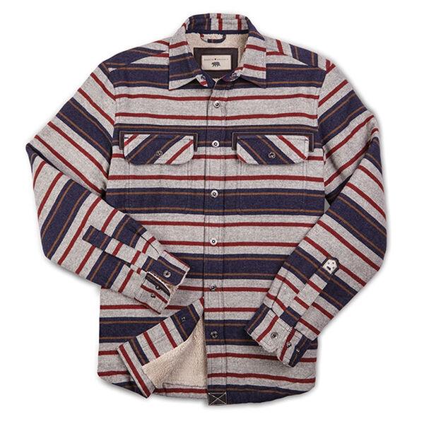 Dakota Grizzly Men's Mack Blanket-Striped Flannel Shirt Jacket