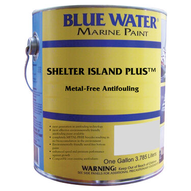 Blue Water Shelter Island Plus Copper-Free Ablative, Gallon