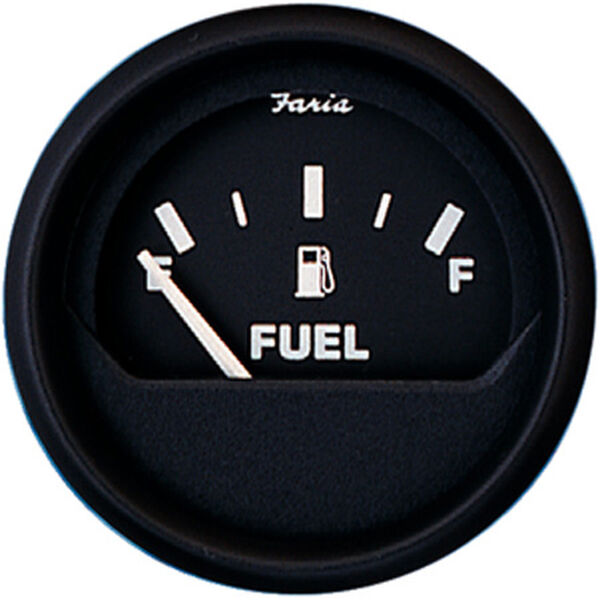 "Faria 2"" Euro Black Series Fuel Level Gauge"