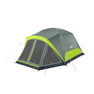 Coleman Skydome 4-Person Camping Tent With Screen Room, Rock Gray
