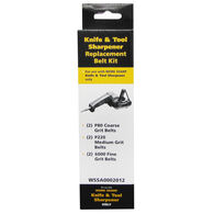 "Work Sharp WSKTS Assorted Replacement Belt Accessory Kit, 1/2"" x 12"", 6-Pack"