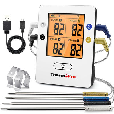 ThermoPro TP25 Wireless Bluetooth Meat Thermometer with 4 Color-Coated Probes