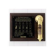 Weems & Plath Brass Stormglass & Plaque Set