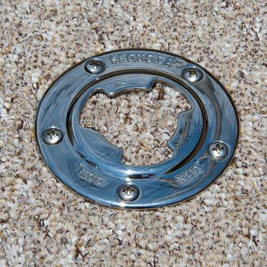 "Sequoia 7"" Diameter Stainless Steel Floor Base Only"