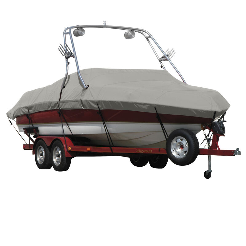 Exact Fit Covermate Sunbrella Boat Cover For MALIBU WAKESETTER 21 VLX w/TITAN TOWER CUTOUTS Doesn t COVER PLATFORM image number 8