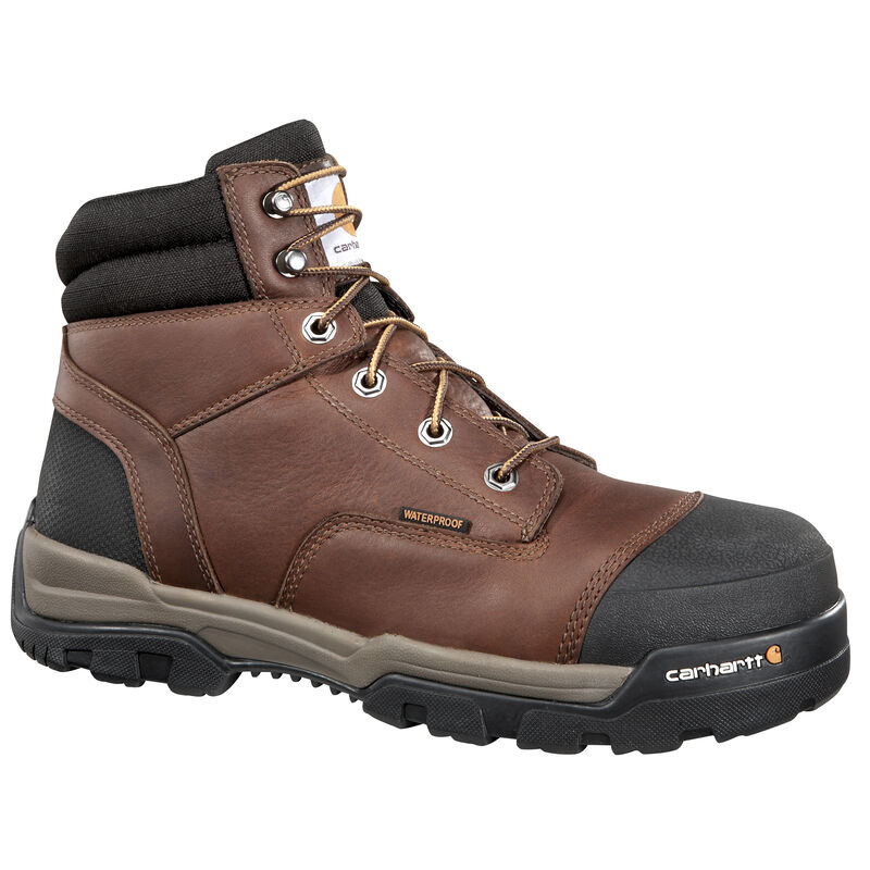 """Carhartt Men's 6"""" Brown Ground Force Work Boot image number 1"""