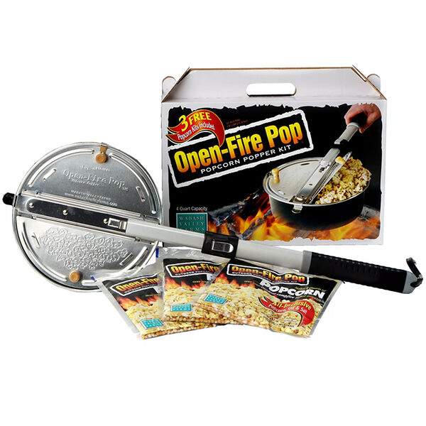 Wabash Valley Farms Open-Fire Pop Popcorn Popper Kit