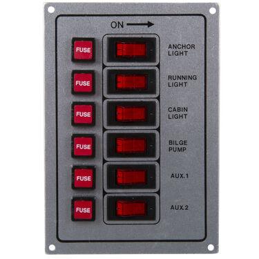 Whitecap 6-Gang Rocker Switch Panel