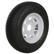 Tredit H188 5.30 x 12 Bias Trailer Tire, 5-Lug Spoke White Rim