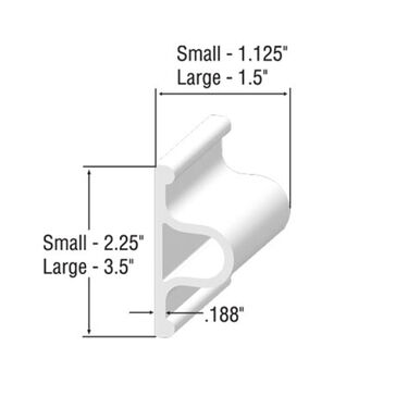 "Taylor Made D-Profile Dock Edging 6'L x 2-1/4""H x 1-1/8""T"