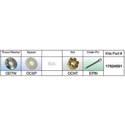 Solas 17024501 Propeller Kit for BRP/Johnson/Evinrude/OMC 40-140 HP