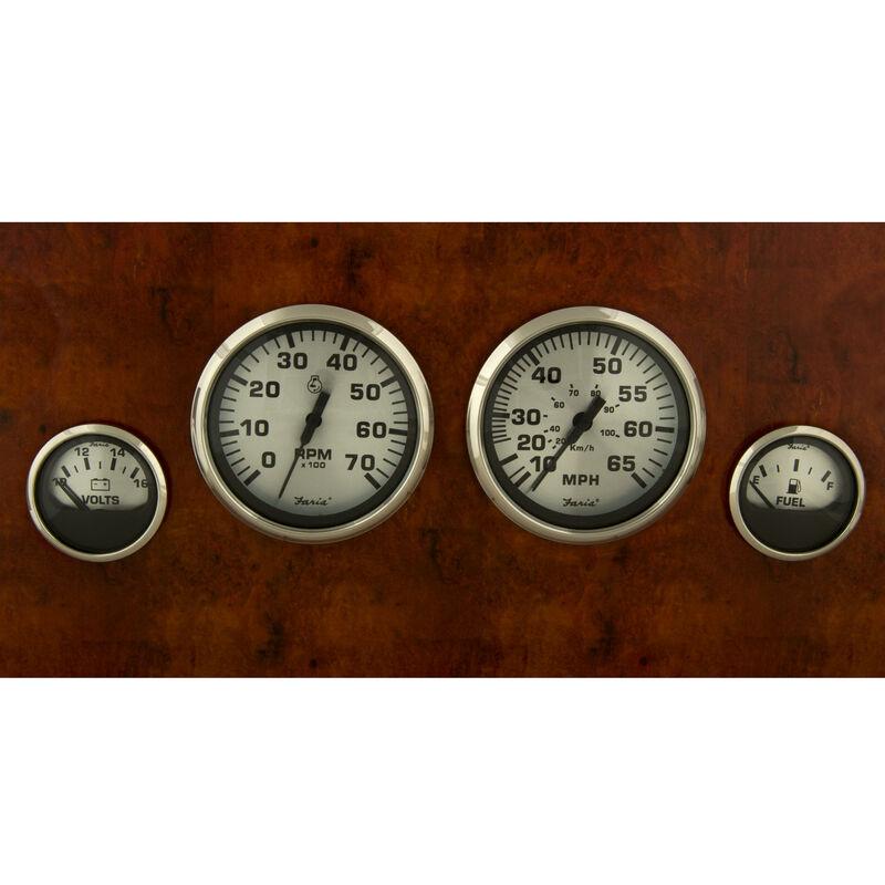 Faria Spun Silver 4-Gauge Set image number 1
