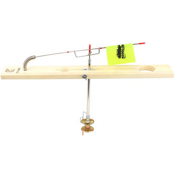 Clam Big Tooth Tackle Lunker Deluxe Wood Rail-Style Tip-Up