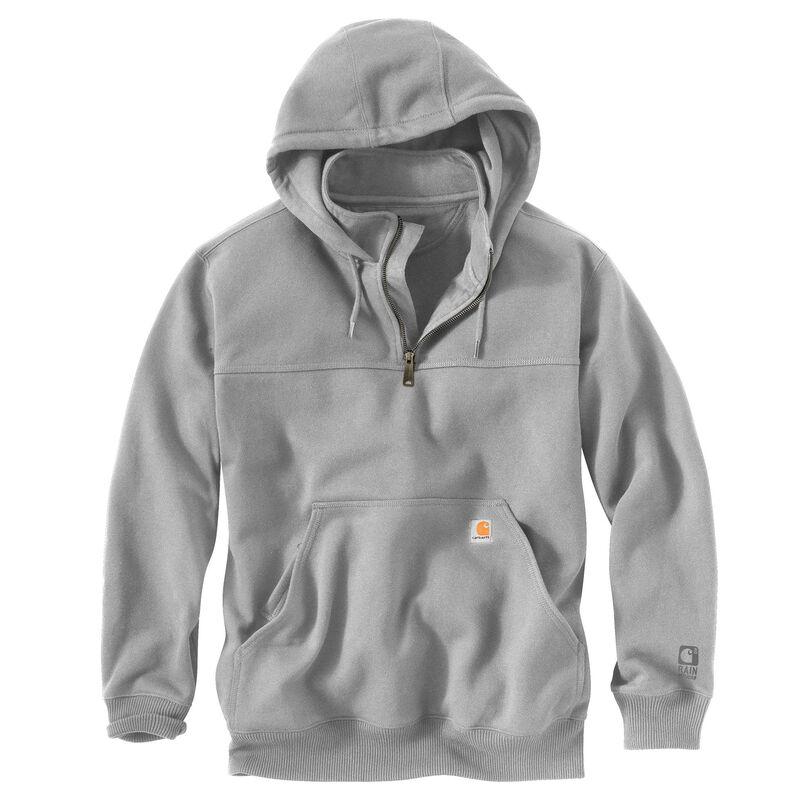 Carhartt Men's Rain Defender Paxton Heavyweight Hooded Zip Mock Sweatshirt image number 7