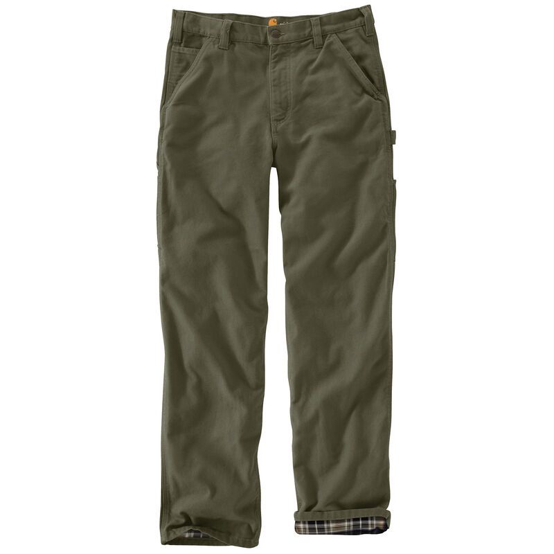 Carhartt Men's Washed Duck Flannel-Lined Dungaree Pant image number 5
