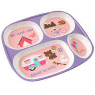 "Kid's ""Eat, Sleep, Camp"" Food Tray, Purple"