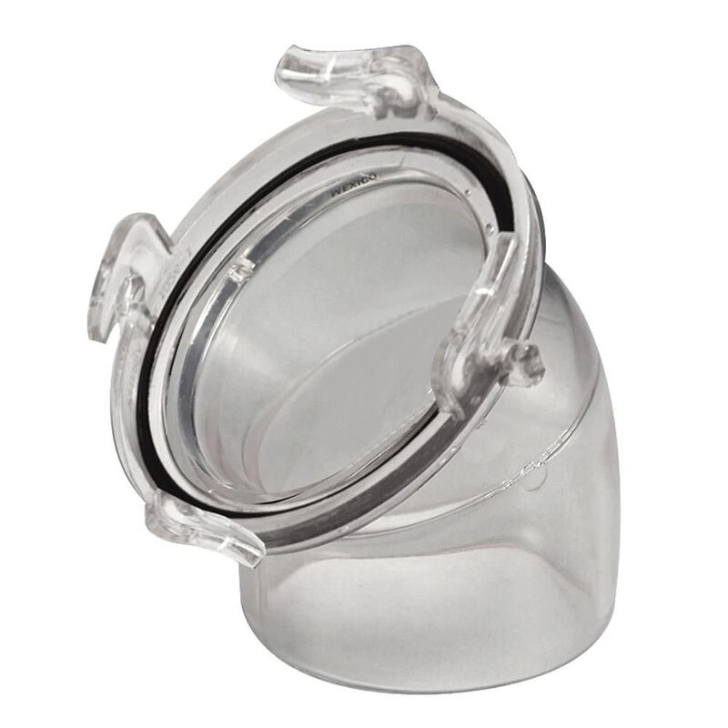 45 Degree Clear Hose Adapter image number 1