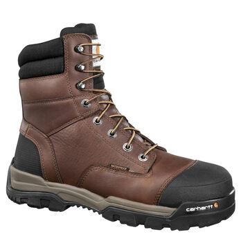 "Carhartt Men's 8"" Brown Ground Force Work Boot"