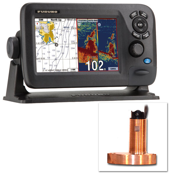 Furuno GP1870F Color GPS Chartplotter/Fishfinder With Thru-Hull Transducer