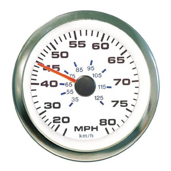 SeaStar Solutions White Premier Pro Instrument - Speedometer Kit (80 mph)