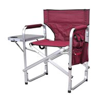 Ming's Mark Director's Folding Chair, Burgundy