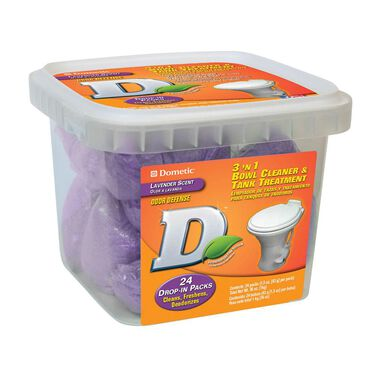 Dometic 3 'N 1 Bowl Cleaner and Tank Treatment, 24 Pack