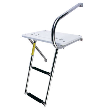 EEz-In Outboard Transom Platform with Two-Step Telescoping Ladder