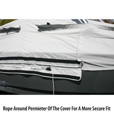 "Tower-All Select-Fit Euro V-Hull I/O Boat Cover, 22'5"" max length, 102"" beam"