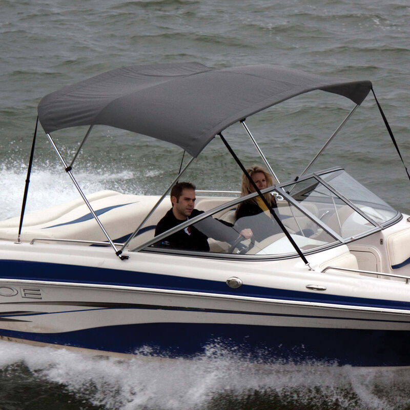 """Shademate Polyester 3-Bow Bimini Top, 5'L x 32""""H, 54""""-60"""" Wide image number 12"""