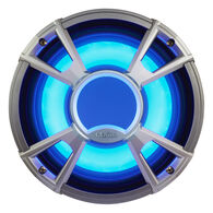 """Clarion CMQ2512WL 10"""" 4-Ohm Subwoofer With Blue LED Lighting"""