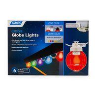 Outdoor Globe Lights, 6-Globe, Black Cord, MultiColor