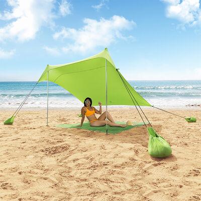 MF Studio Beach Shade 7.6' x 7.2' Sun Shelter and Portable Canopy, Green