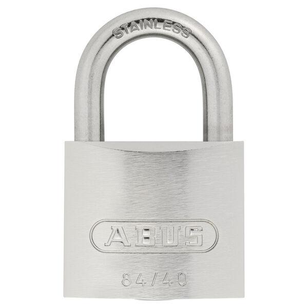 Abus Lock Weatherproof Stainless Steel Padlock, 84IB/40KDC