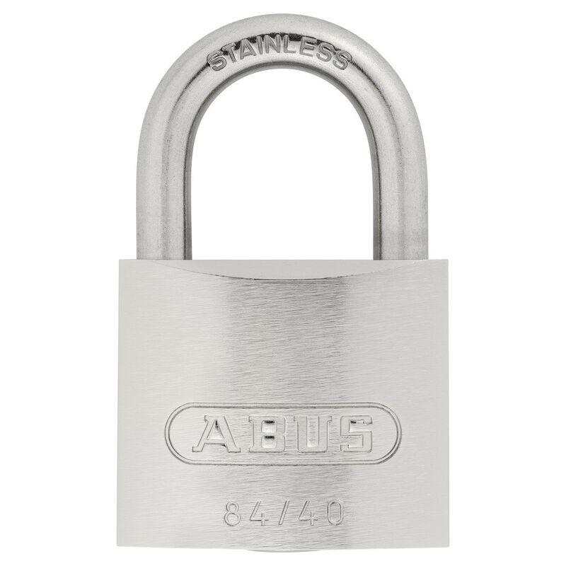 Abus Lock Weatherproof Stainless Steel Padlock, 84IB/40KDC image number 1