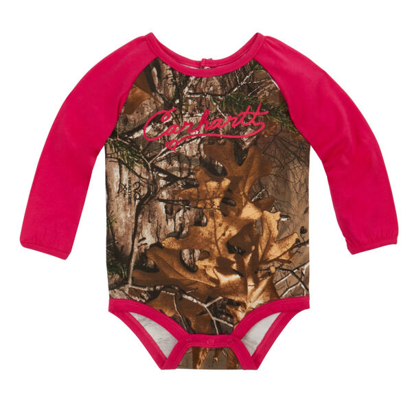 Carhartt Infant Camo Raglan Long-Sleeve Bodysuit