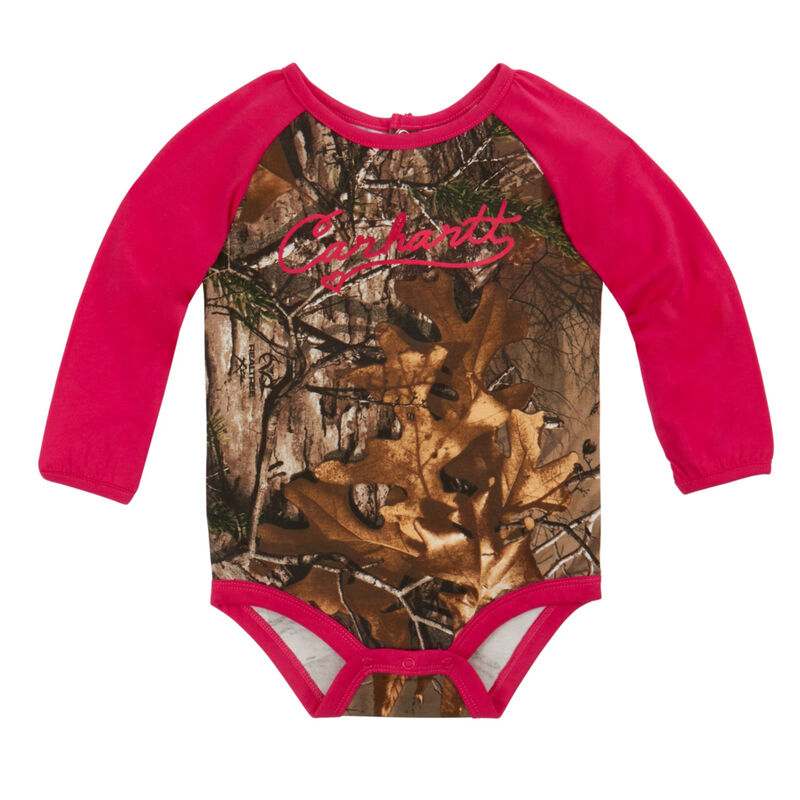 Carhartt Infant Camo Raglan Long-Sleeve Bodysuit image number 1