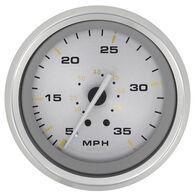 "Sierra Gold Sterling 3"" Speedometer, 35 MPH"
