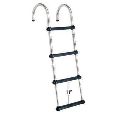 Overton's Removable Telescoping Pontoon Boat Ladder, 4-Step