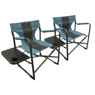 Caravan Canopy Elite Director's Folding Chair, Teal/Gray, 2-Pack