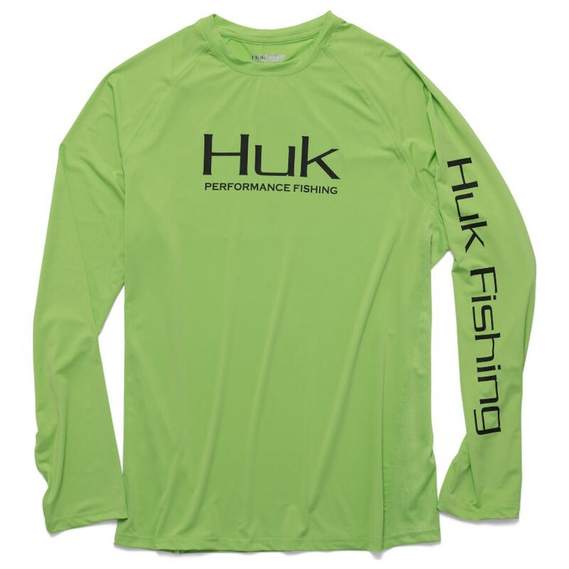 HUK Men's Pursuit Vented Long-Sleeve Tee image number 5
