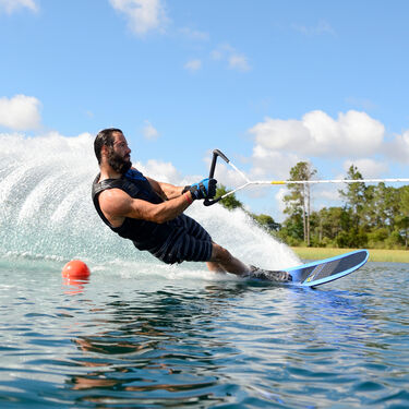 HO TX Slalom Waterski With Double X-Max Bindings