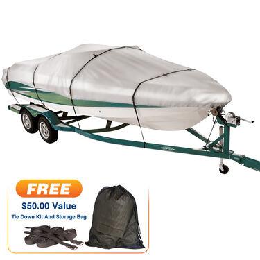 "Imperial 300 Walk-Around Cuddy Cabin I/O Boat Cover, 22'5"" max. length"