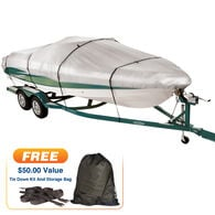 """Imperial 300 Walk-Around Cuddy Cabin Outboard Boat Cover, 24'5"""" max. length"""