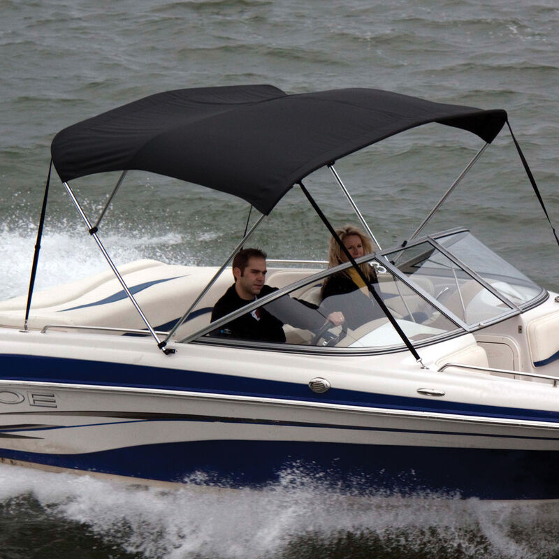 """Shademate Polyester 3-Bow Bimini Top, 5'L x 32""""H, 61""""-66"""" Wide image number 1"""