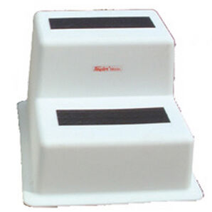 Stepsafe Dock Step, White, Double Tread
