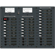 Blue Sea 12/24V DC Main + 35 Position Circuit Breaker Panel w/Digital Multimeter