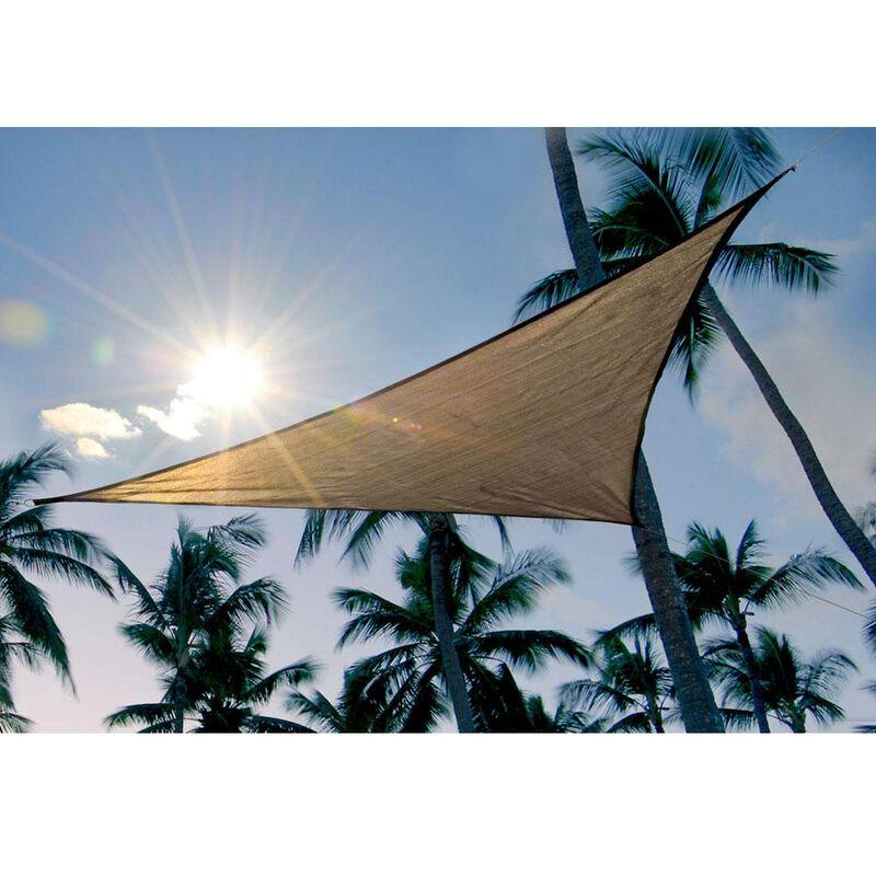 ShadeLogic Sun Shade Sail, Triangle- Sand 16' x 16' x 16' image number 4