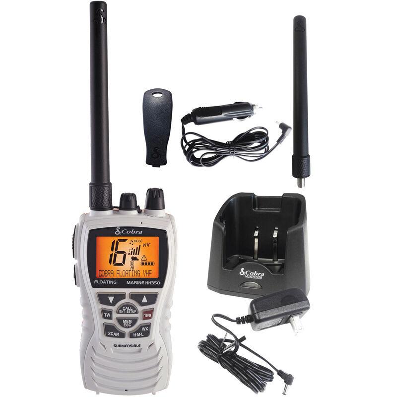 Cobra MR HH350 FLT Floating Handheld VHF Radio, White image number 2